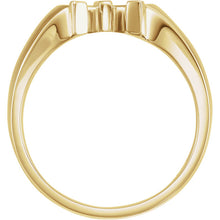14K Yellow Men's Horseshoe Ring, New item #51422