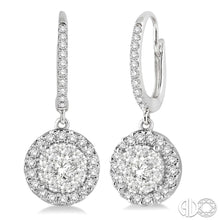3/8 Ctw Round Cut Diamond Lovebright Earrings in 14K White Gold ASHI Style New #96294FVERWG