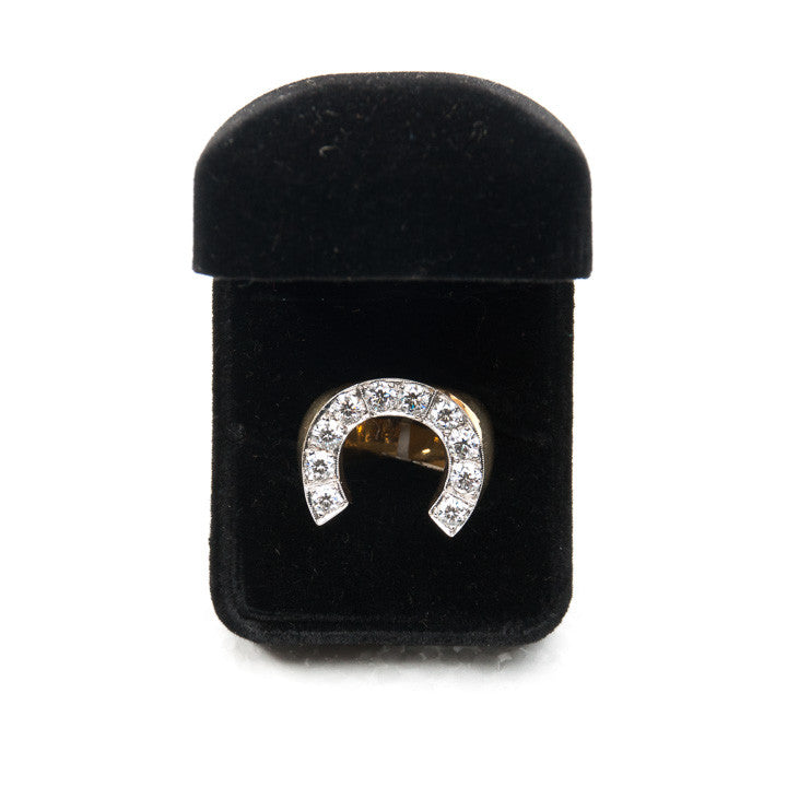 MENS HORSESHOE 2CTW DIAMOND RING in 18KY Gold, this is Pre-Owned Item #286754