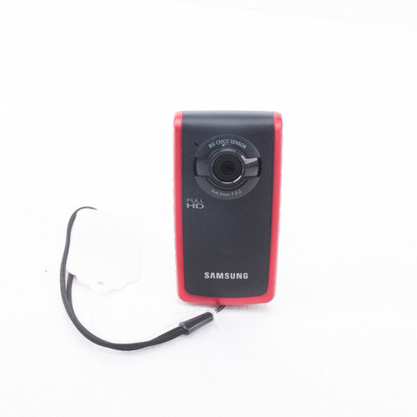 SAMSUNG W200 1080P Digital Pocket Camcorder, Red, this is Pre-Owned Item #330809