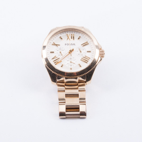 FOSSIL AM4510 GOLD TONE MENS WATCH #330877B