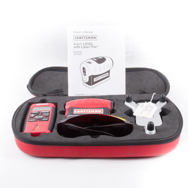 CRAFTSMAN 4-IN-1 LEVEL WITH LASER TRAC, this is Pre-Owned Item #310255A