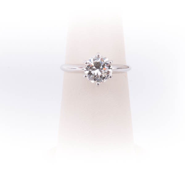1.54CT BRILLIANT CUT RBC SI-1 I DIAMOND RING IN 14KW Pre-Owned #304072