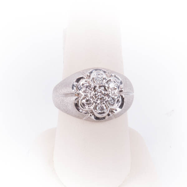 MENS CLUSTER RING 8.7GRAMS IN 10KW, this is Pre-Owned Item #286932B