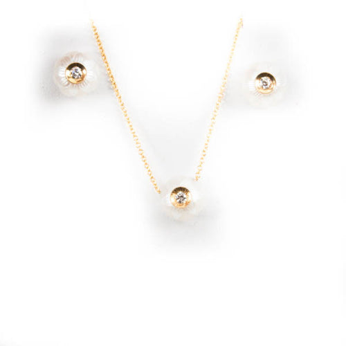 GALATEA .04CT DIAMOND IN PEARL DESIGNER PENDANT IN 14KW, this is NEW Item #904.04WW.SA