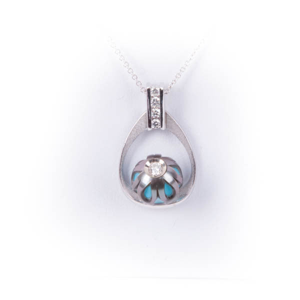 GALATEA .16CTW DIAMOND IN MERCY PEARL PENDANT IN 14KW, this isNew Item #4440WTU.SA