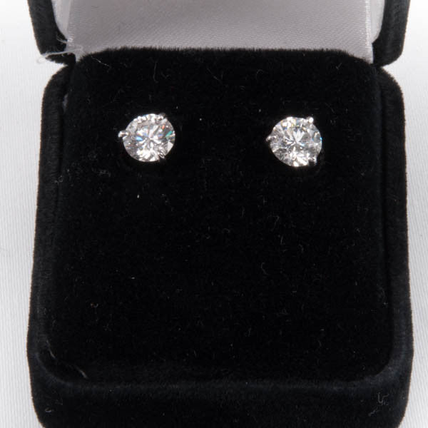 2.19CTW SI3 DIAMOND EARRINGS IN 14KW #289751