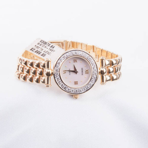 14KY 5/8CTW DIAMOND GENEVA LADIES WATCH New #V30576.SA