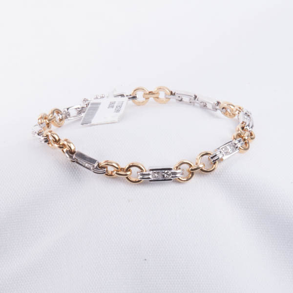 .75CT DIAMOND TWO-TONE BRACELET 13.8GRAMS IN 14KY/W Pre-Owned #C40P5D5.SA