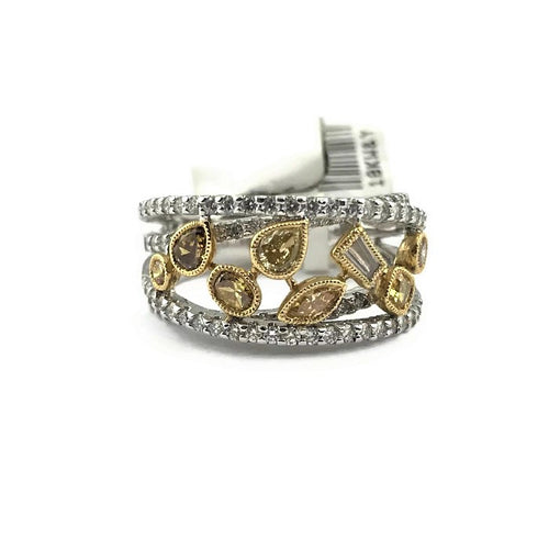 Parade Design Reverie Fashion Fancy Diamond Designer Band in 18K Two-tone