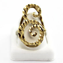 10K Yellow Gold Ladies Letter -E- Initial Ring, Mother's Day Jewelry, Sz7.25-7.5 #V53950
