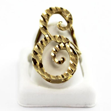 10K Yellow Gold Ladies Letter -E- Initial Ring, Mother's Day Jewelry, Sz7.25-7.5