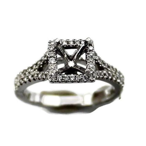 Diamond Semi-mount Engagement Ring in 14K White Gold 1/2TW, New item #22114243