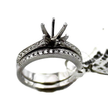 18K White Gold .30CTW Diamond Semi-Mount Bridal Set, New item #R0667/R2