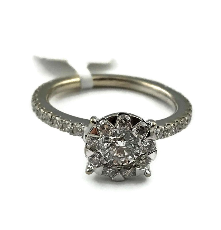 Ladies Engagement Ring in 14K White Gold