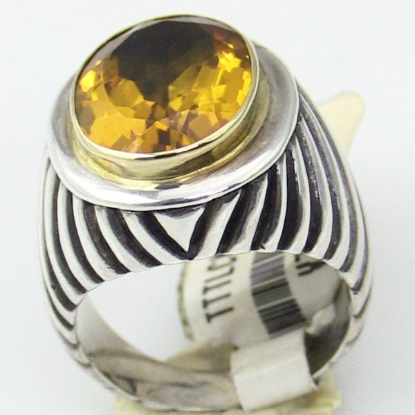 Sterling Silver 18KY Gold Ring Size 7, this is New Item #v31692-210