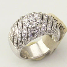 Ladies 18KW Gold 1.70CT Cluster Diamond Wedding Band Ring, this is NEW Item #21864
