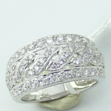 18KW Gold 0.84 CT Diamond Band Ring, Size 7-7.25 #R-422