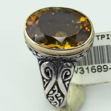 Sterling Silver 18 KY Gold Ring #v31689-241