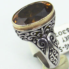 Sterling Silver 18 KY Gold Ring, this is New Item #v31689-241