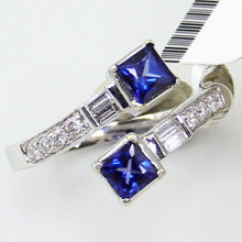 18KW Gold 0.29Ct Diamond 0.78 CT Sapphire Ring, Size 7, this is New Item #JMD RG2178000