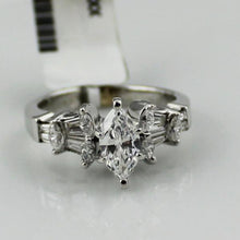 Marquise Cut Diamond Engagement Ring in 18K White Gold 3.8DWT Sz. 7 #306913A