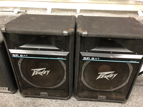 Pair PEAVEY Scorpion SP-5XT Stage Studio SPEAKERS Set, Pre-owned item #T12749