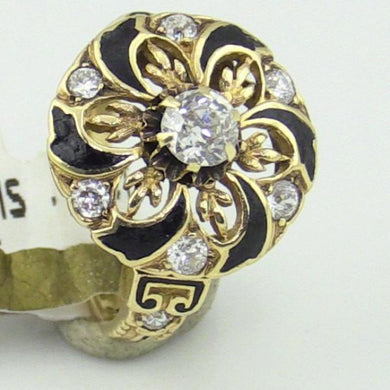 LADIES DIAMONDS .60CT TW RING 4.7GRAMS IN 14KY  Size 4.75-5 #v18913