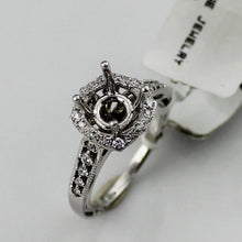 Diamond Semi-Mount Engagement Ring in 18K White Gold SZ. 6, New item #R3196/R1
