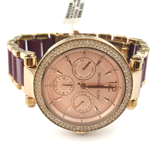 Michael Kors Rose-gold Pink Parker Chrono Mk6536 Watch