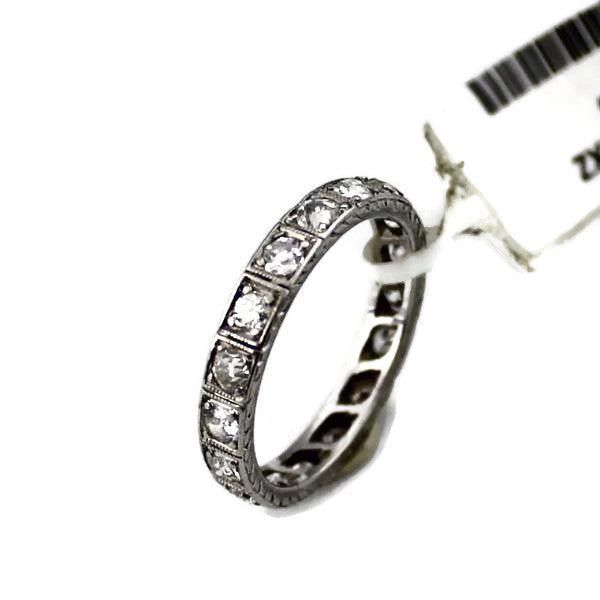 1CT Round Cut Diamond Eternity Ring In Platinum Sz. 5.5 #293619