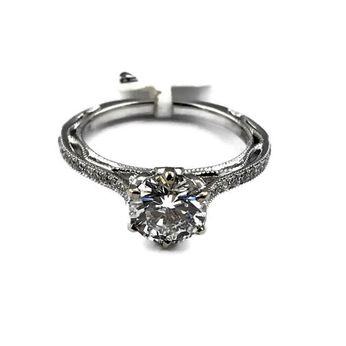 Parade Design 1.13 CTW Diamond Engagement Ring in 18K White Gold