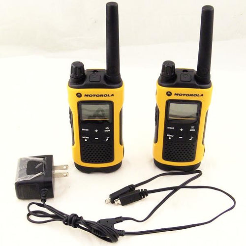 Motorola Talkabout T400 Rechargeable Two-Way Radio Pair (Yellow) #347528B