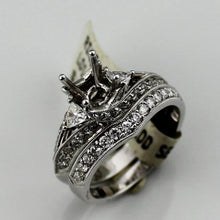 14K White Gold 1.15CTW Diamond Semi-Mount  Bridal Set Sz. 6.5, New Item #V29998