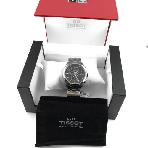 Tissot Couturier Swiss Quartz Chronograph Black Dial T0356171105100 Men's Watch
