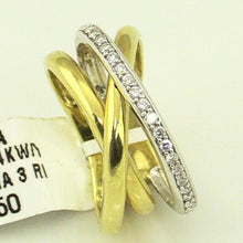 Ladies 14KY/W Gold 1/4CT Diamond 3 Ring #14663.sa