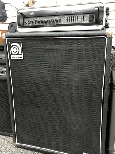 Ampeg SVT-3 Pro 450 watt Bass Guitar Amp Head and Cabinet, pre-owned #356720a