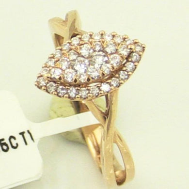 Rose Gold 0.35CTW Diamond Ladies Ring #v44784