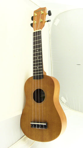 Diamond Head DU-200 Deluxe Natural Mahogany Soprano Ukulele, new #DU200