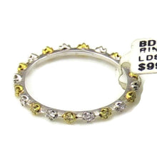 .30CT Yellow & White Diamond Band in 18K White Gold, New item #BD0701-YD-ET