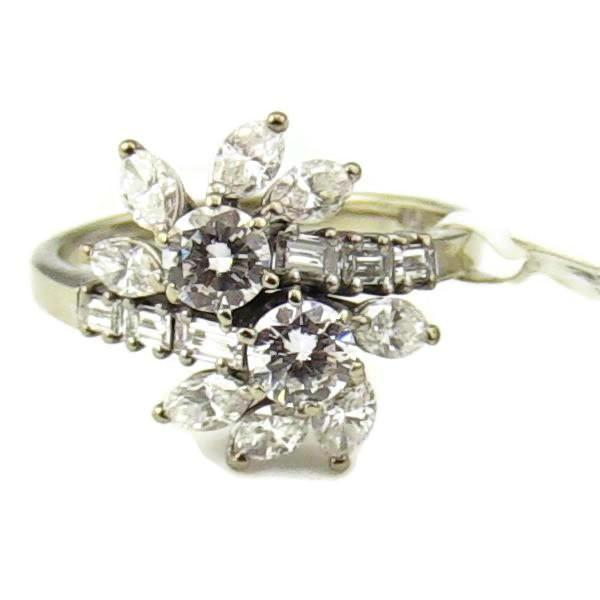18K White Gold 2-1/3CT, 8-.10CT Diamond Ring, Pre-Owned item #326053B