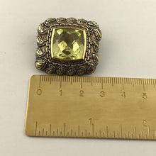 Argendor Lime Quartz Designer Pendant in 925 Sterling Silver with 18KY Gold Accents, New item #ARI003-LQ