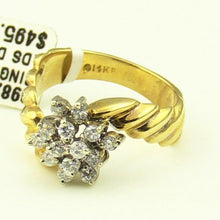 14k Yellow Gold Ladies Diamonds Cluster Ring 3.3DWT#99822