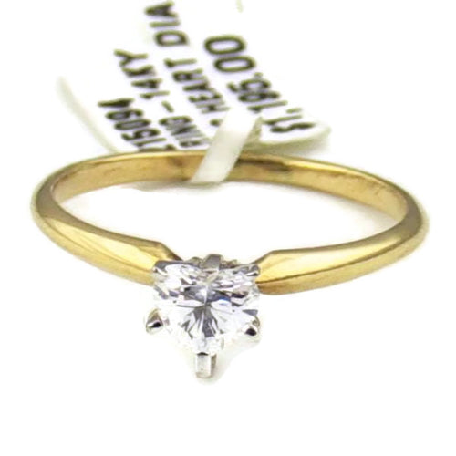 Ladies 1/2CT Heart Cut Diamond Engagement Ring in 14K Yellow Gold, Pre-owned item #215094
