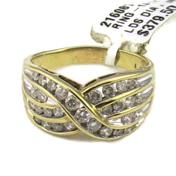 Ladies 10K Yellow Gold 1/2 Diamond Ring 5.1gr., Sz. 7.5, Pre-owned item #216081