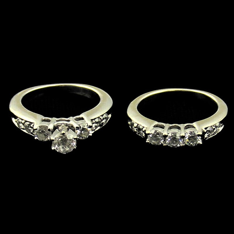 14K White Gold 1.50CTW Diamond Bridal Set