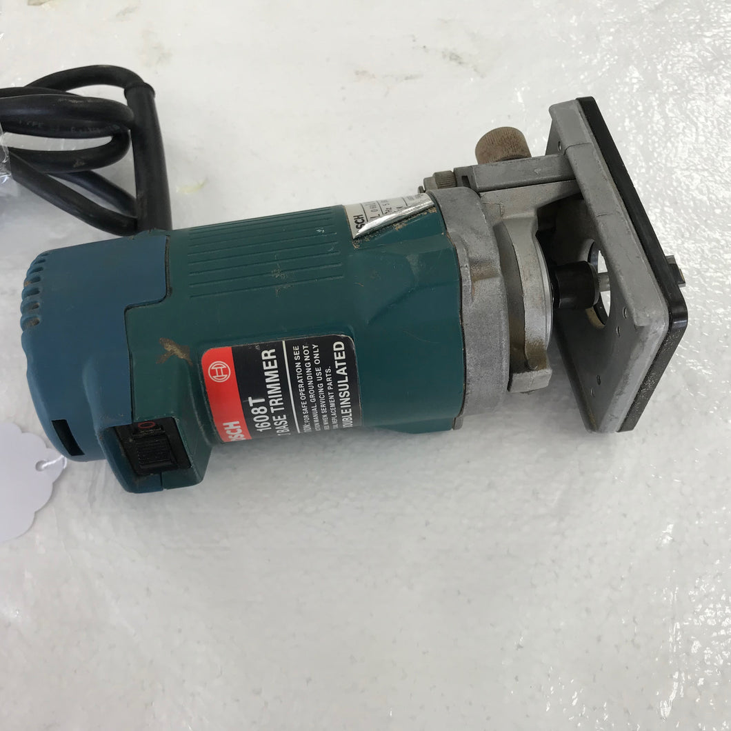 Bosch 1/4 Collet Trimmer Router Model 1608, Pre-owned item #356937b