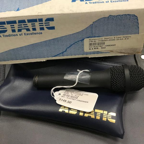 Astatic CTM 92 Electret condenser cardioid microphone, pre-owned item #CTM-92