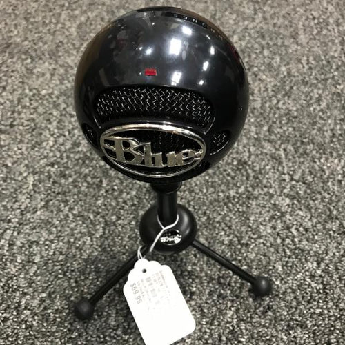 Blue The Snowball Black Microphone Mic w/ Stand #337637E