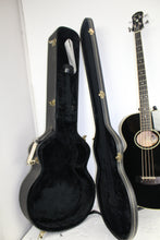 Epiphone El Capitan Acoustic/Electric Bass Guitar Black with Case #348379